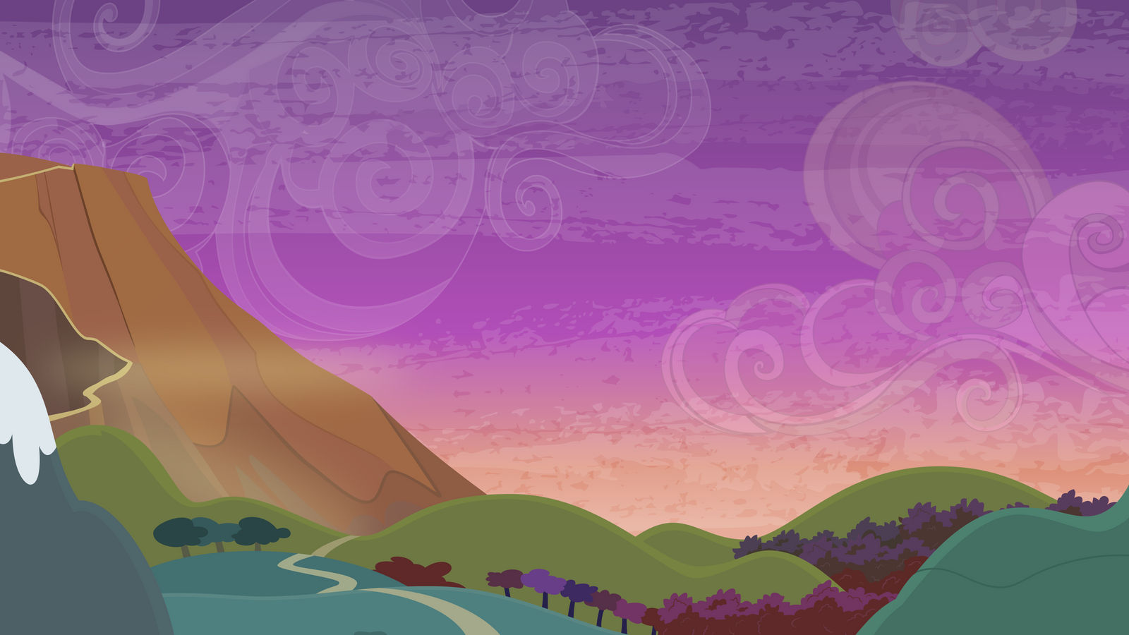 Group Background #8 - Road to a Volcano