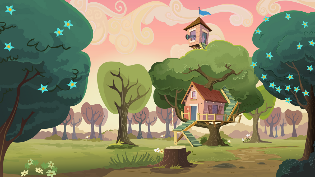 Group Background #10 - CMC Clubhouse by MLP-Vector-Collabs