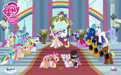 Canterlot Wedding Poster Vector