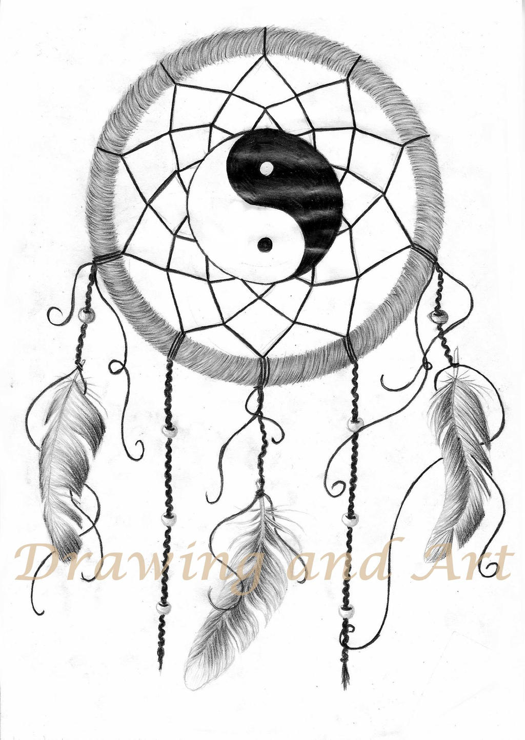 Dream catcher by drawingsbynatalia on deviantart for Dream catcher drawing easy