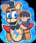 Glamrock Freddy and Gregory{FNAF SB}