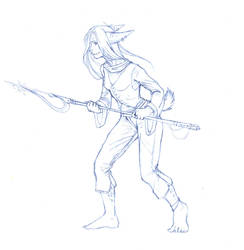 Spear sketch by excarnation