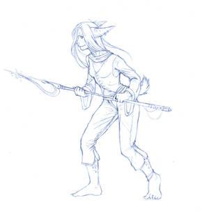 Spear sketch