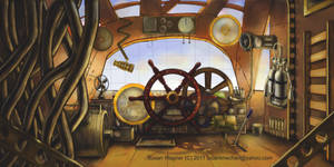 Steampunk Airship by tsuanimechan