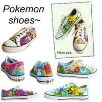 Pokemon Shoes by xRainxWhenxIxDiex