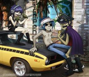commission - GORILLAZ RULZ by Go-Devil-Dante