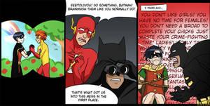 robin 1, batman OVER 9000