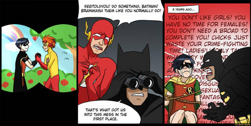 robin 1, batman OVER 9000