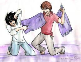 Kurishina's bday L and Raito by Go-Devil-Dante