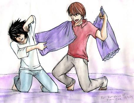 Kurishina's bday L and Raito