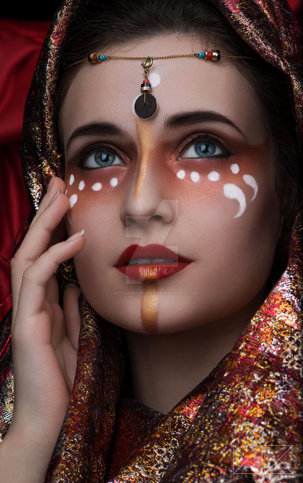 Oriental Makeup By Larissahelwigsfx On