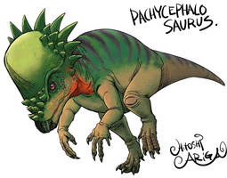 PACHYCEPHALOSAURUS by HitoshiAriga