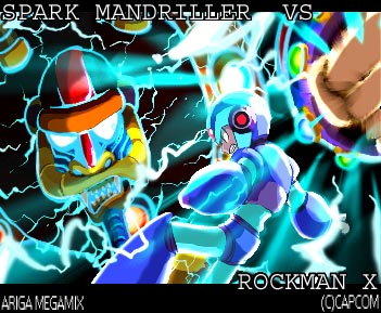 SparkMandriller Vs RockmanX by HitoshiAriga