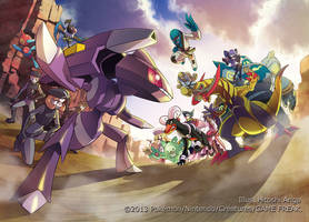 Pokemon Card Game BW Concept Art by HitoshiAriga
