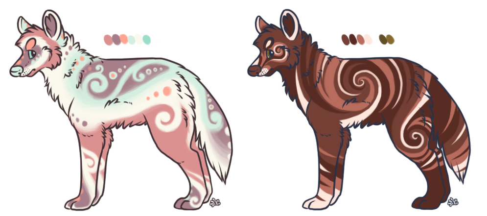 Wolf Designs by albinobroccolii