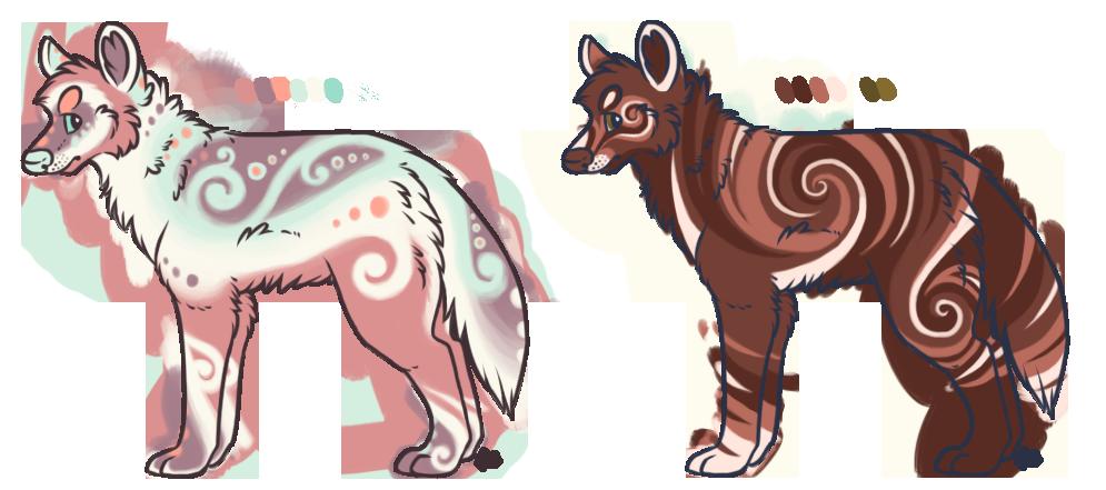 Wolf Designs by albinobroccolii