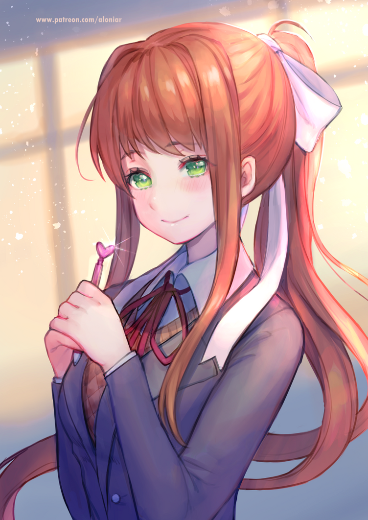 Monika - Doki Doki Literature Club [+ Speedpaint ] by AloNiar