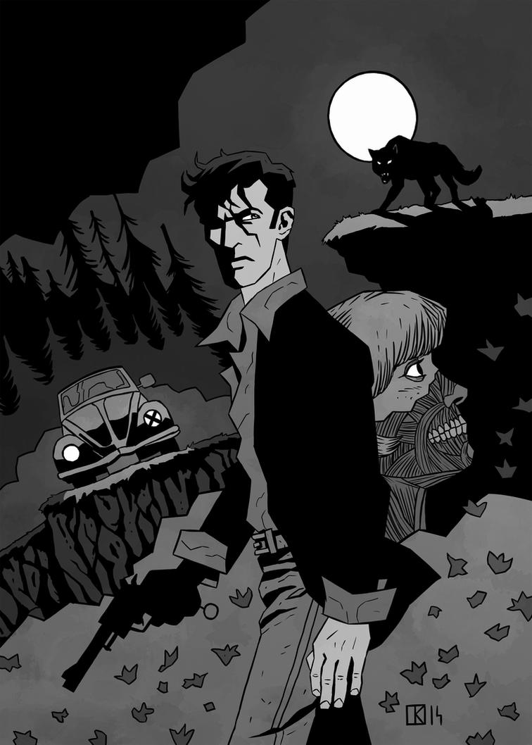 Dylan Dog pinup by ChrisZEROSEV