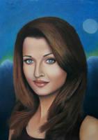 Aishwarya Rai Pastel drawing by Vishvesh99