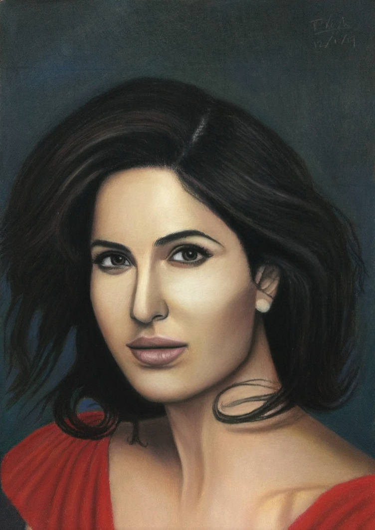 Katrina kaif pastel by vishvesh99
