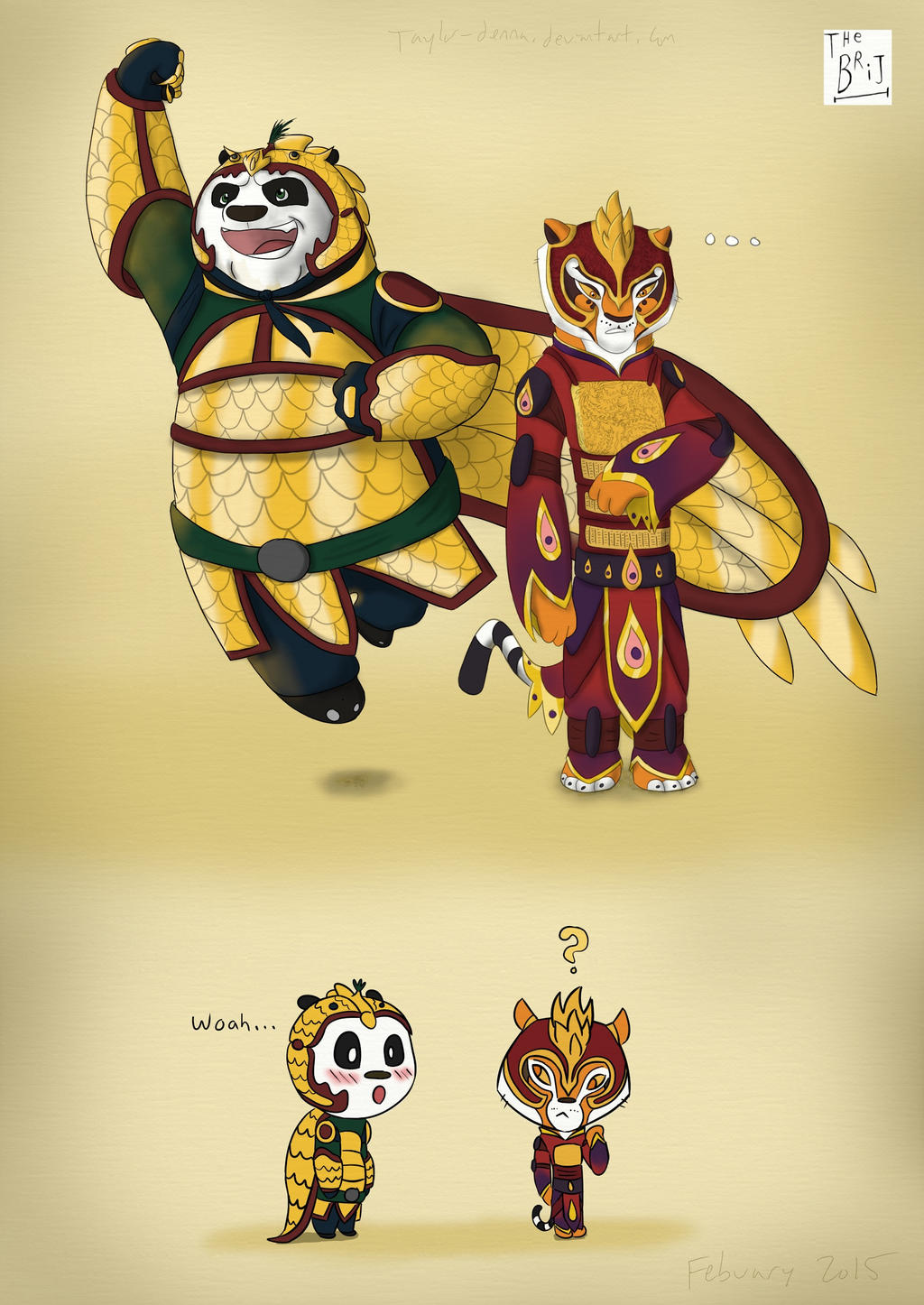 Po and Tigress by Taylor-Denna on DeviantArt