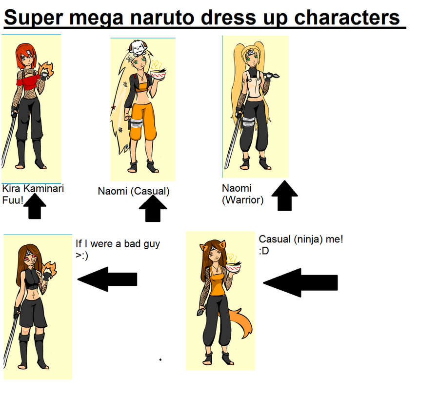 Naruto Dressup By Spacecoma On Deviantart: Super Mega Naruto Dress Up Game Characters By NaruGirl369