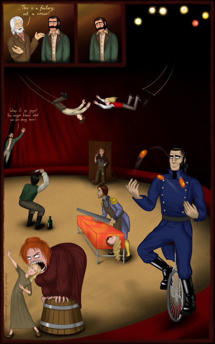 Les Miserables in a circus by Panda-With-Oar