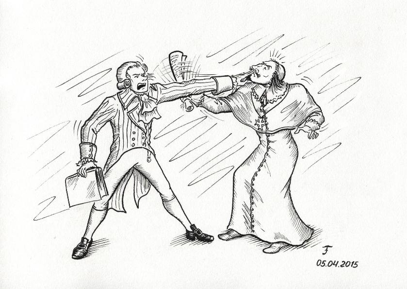 Robespierre vs Richelieu by Panda-With-Oar