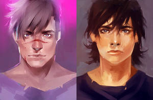 Voltron LD - Shiro and Keith by InkTruffle