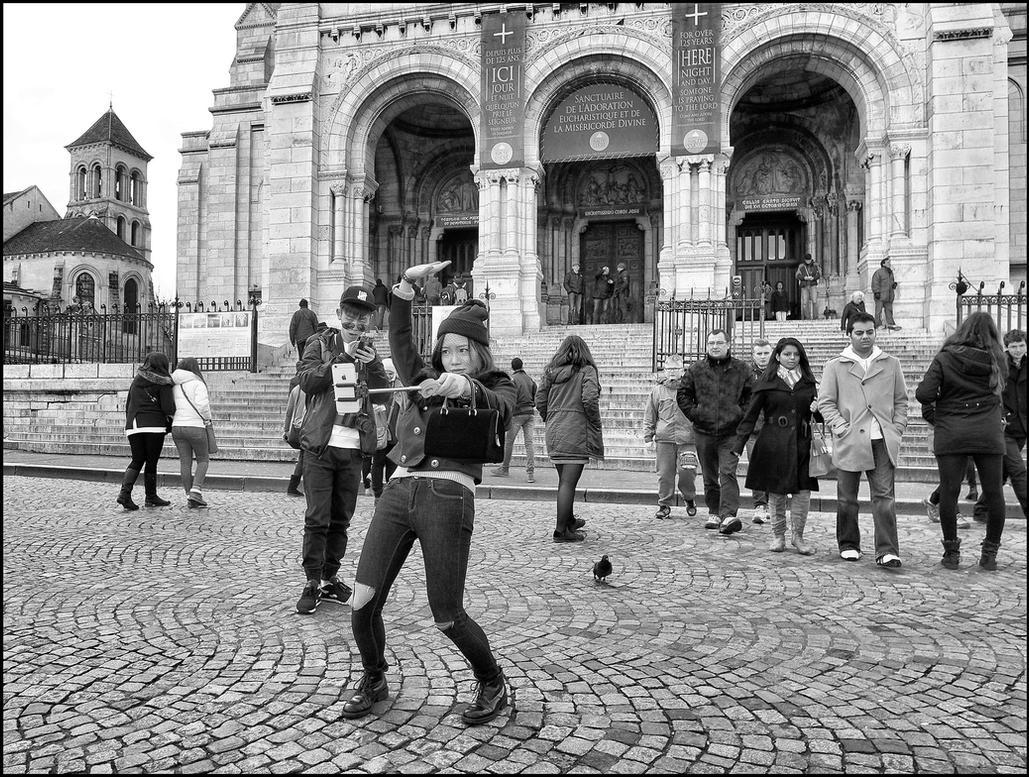 Selfie in Montmartre by SUDOR