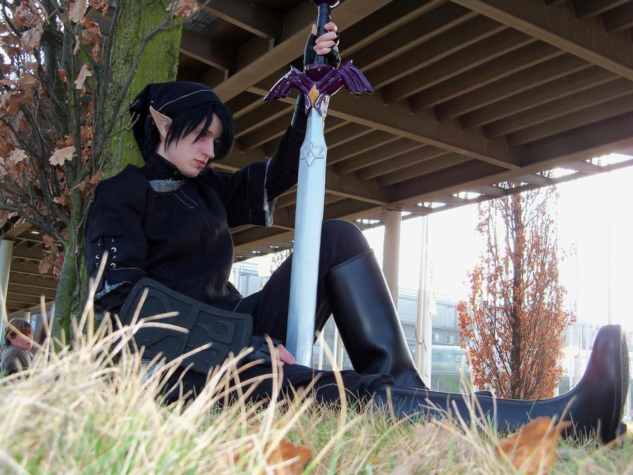 - Dark Link - waiting for a hero - by GenesisRhapsodos