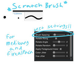 scratch brush (custom medibang/firealpaca brush)