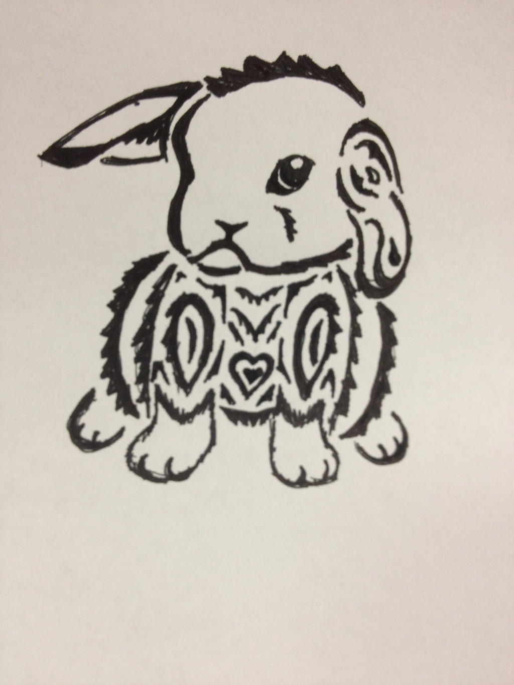 Tribal Bunny Tattoo