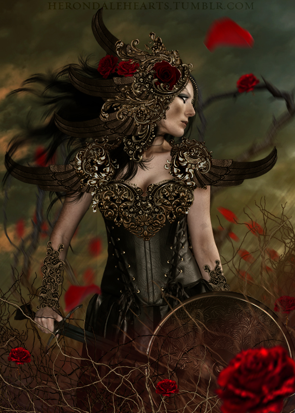 Warrior of Roses by WolfRyder42