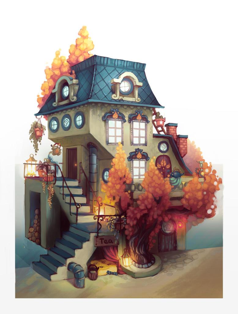 Tea house by Ewreilyn