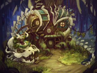 Dragon skeleton by Ewreilyn
