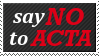 ACTA Stamp by memoire-blanche