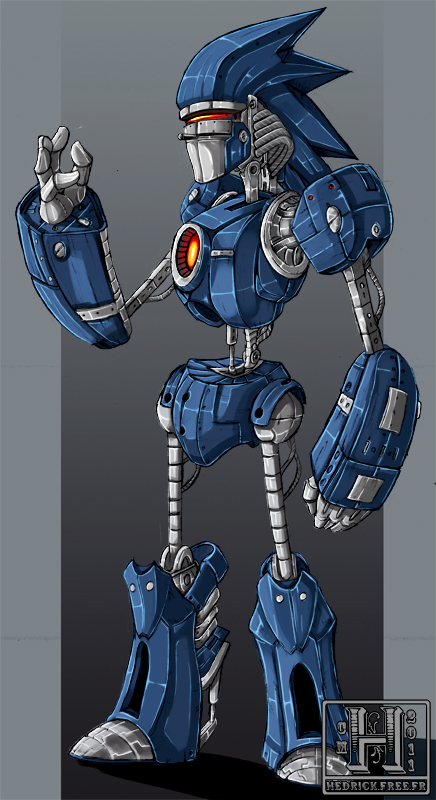 Mecha Sonic by Hedrick-CS