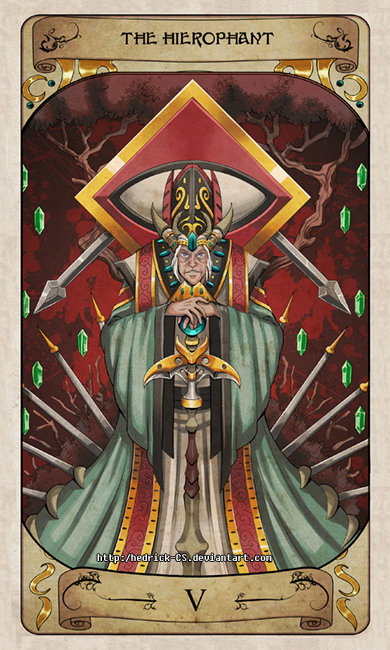 Cerebium Tarot 5 - The Hierophant