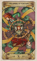 Cerebium Tarot 10 - The Wheel of Fortune