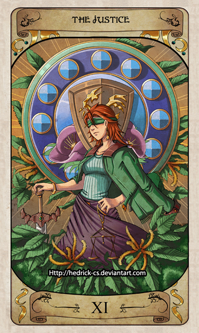 Cerebium Tarot 11 - The Justice