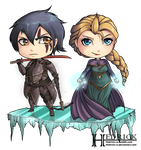 Commission + Chibi Onyx and Elsa