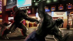 Abomination versus Hulk