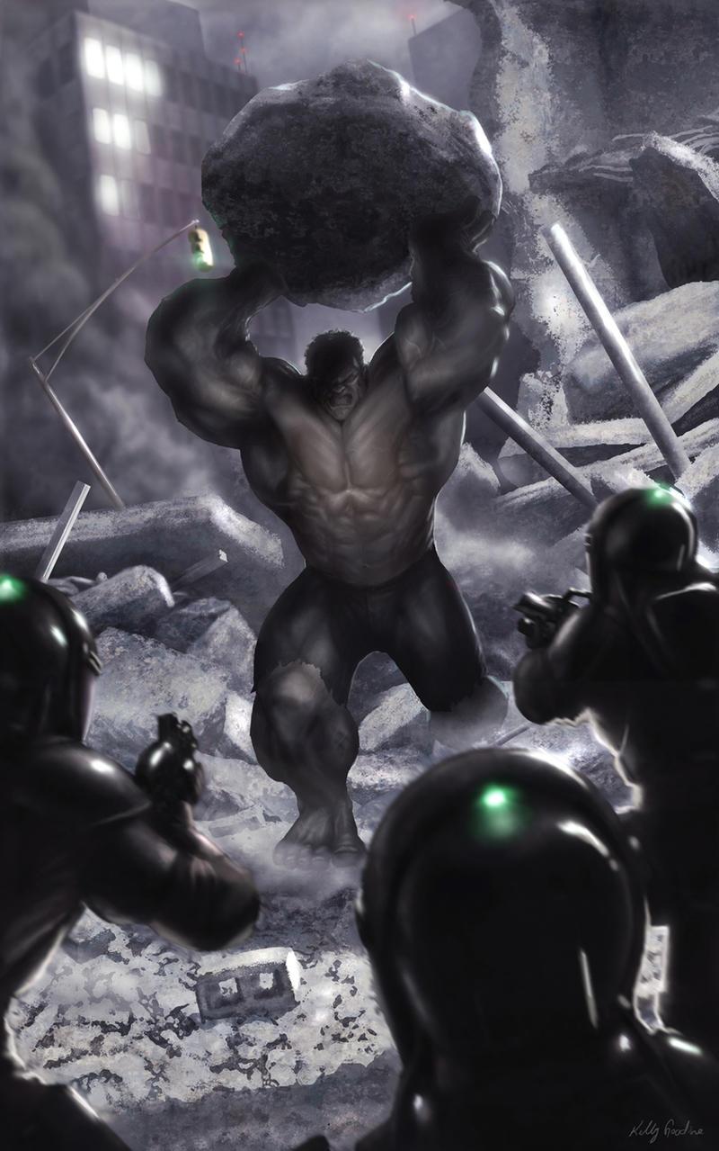 Hulk vs Enclave Soldiers by KEGO44