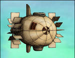 Paddle Wheel Airship