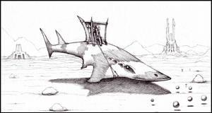 Hover Shark by farawayforest