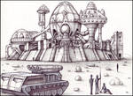 Temple of the Egg Drawing