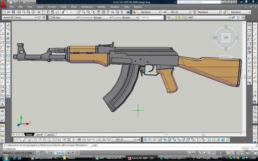 Ak47 Full side view by ThieresCAD on DeviantArt