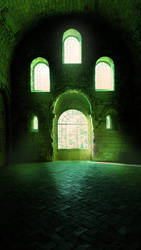Old Crypta premade background by Eerilyfair-Stock