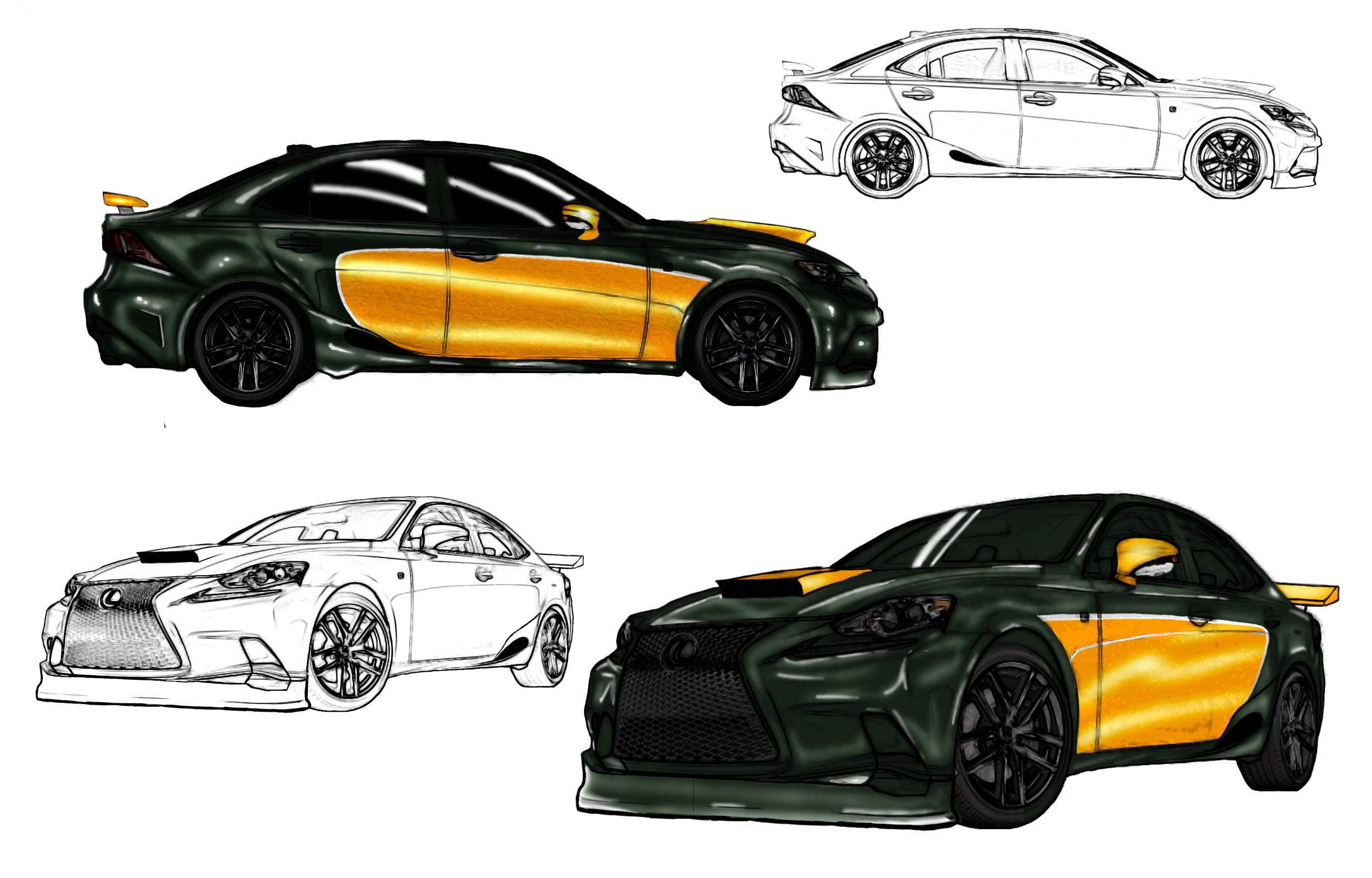 Lexus IS (tiger instinct) by jshoemake15